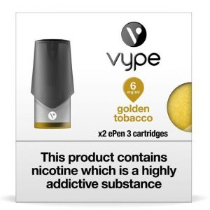 Vype ePen 3 Pods – Golden Tobacco – Pack of 2