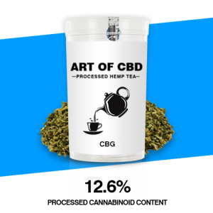 Art of CBD Processed Hemp Tea: CBG – Processed Cannaboid Content 12.6% CBG – 10g