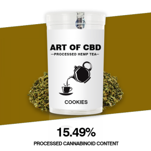 Art of CBD Processed Hemp Tea: Cookies – Processed Cannaboid Content 15.49% CBD – 10g