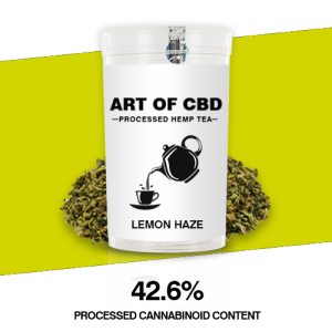Art of CBD Processed Hemp Tea: Lemon Haze – Processed Cannaboid Content 42.6% CBD – 10g