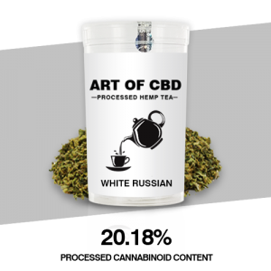 Art of CBD Processed Hemp Tea: White Russian – Processed Cannaboid Content 20.18% CBD – 10g