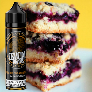 Crucial Vapors – Blueberry Cinnamon Crumble 50ml Short Fill