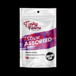 Funky Farm: Sour Assorted Flavour Gummies (30pcs) – 300mg