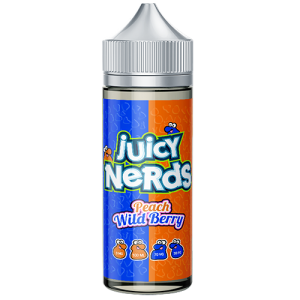 Juicy Nerds: Peach & Wild Berry – 100ml