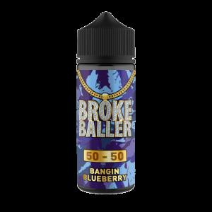 Broke Baller: Bangin Blueberry – 80ml Shortfill – 50vg/50pg