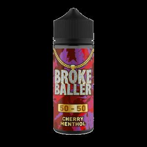 Broke Baller: Cherry Menthol – 80ml Shortfill – 50vg/50pg