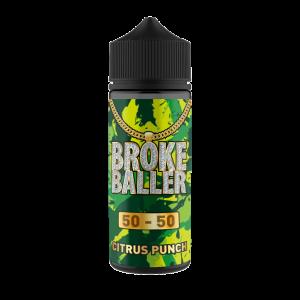 Broke Baller: Citrus Punch – 80ml Shortfill – 50vg/50pg