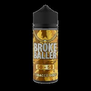 Broke Baller: Tobacco Gold – 80ml Shortfill – 50vg/50pg